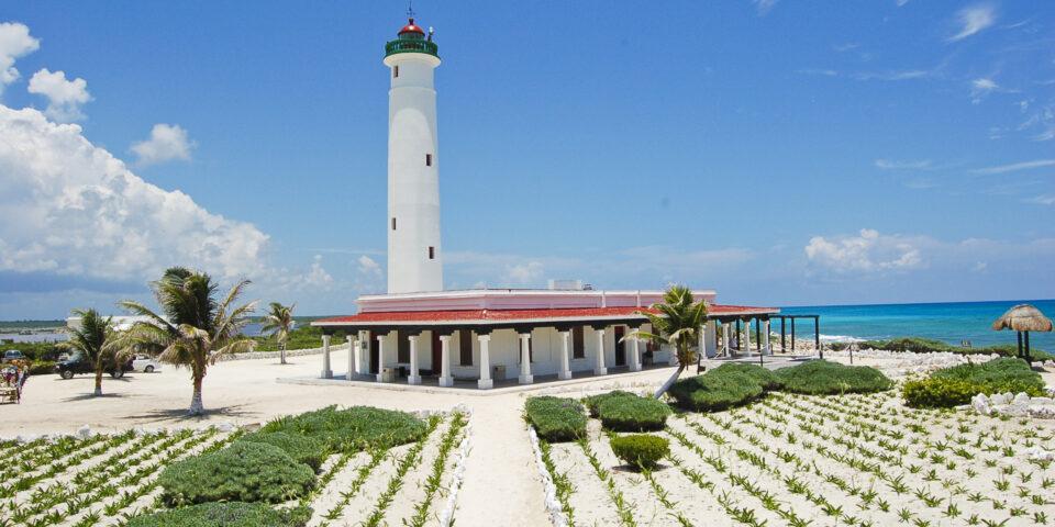 Faro Celarain Cozumel, Punta Sur y el mar caribe