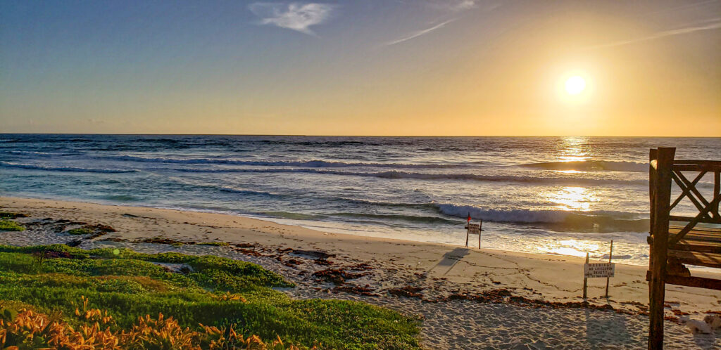 Amanecer Cozumel, playa san martin