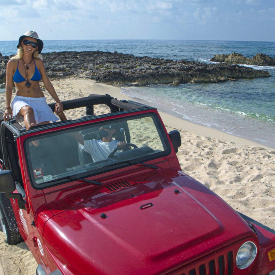 Jeep del otro lado de la isla en Cozumel
