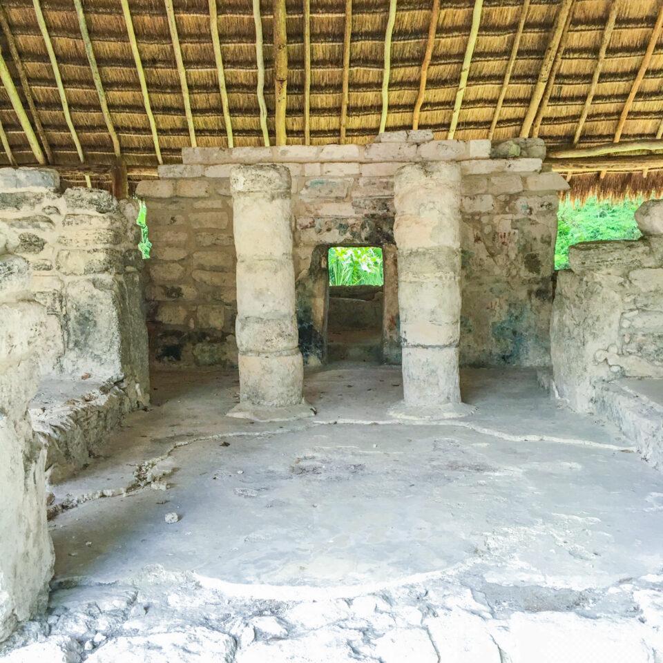 Imagen san gervasio, ruina manitas, residencia de elite, zona arqueologica cozumel