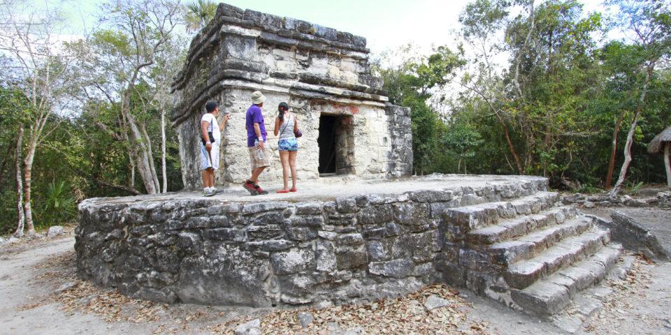 Imagen reuina san gervasio, casa grande. ruinas, zona arqueologica cozumel