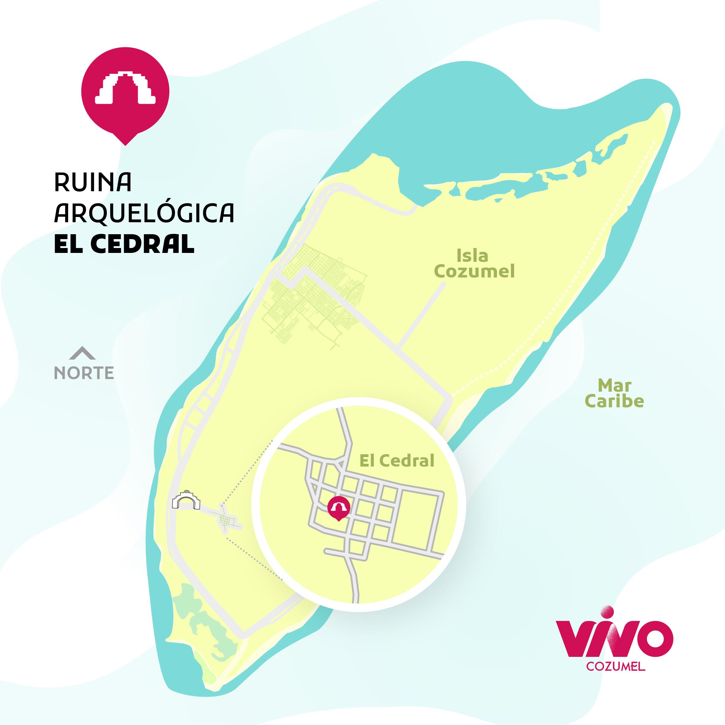 Mapa ubicación de El Cedral