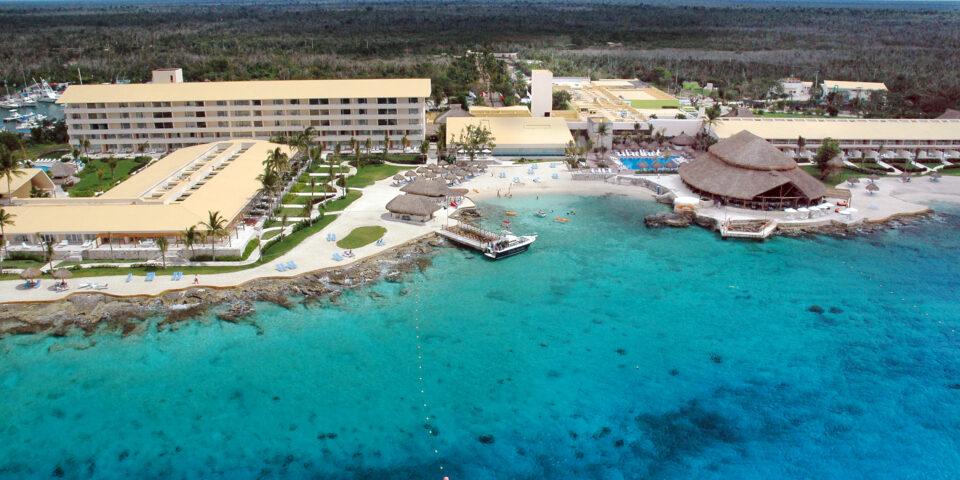Hotel Presidente Intercontinental Cozumel, mar de cozumel, azul turquesa, lugar de hospedaje