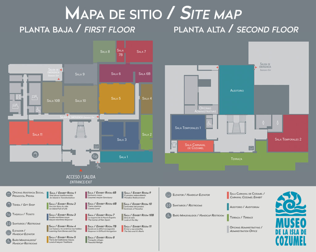 Mapa museo de la isla foto de Cozumel Parks